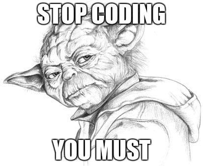 Stop coding meme
